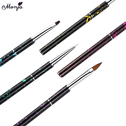 Amazon.com : lecimo 5Pcs Nail Art pen(Round Pen, Flat Pen, Pull Pen, Crystal Pen) : Beauty