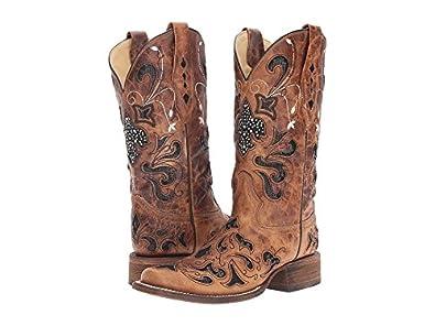 b4428ce7b91 Corral Boots Women's A2840 Antique Saddle/Black Boot