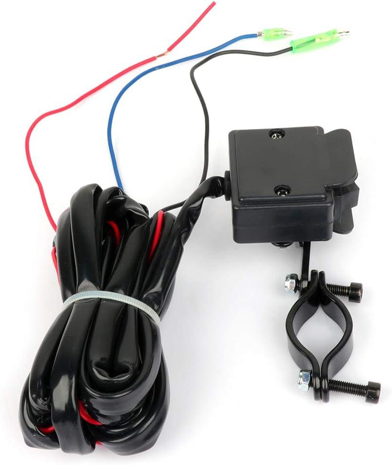 AINTIER 12V Solenoid Relay Contactor w//Winch Rocker Thumb Switch Combo for ATV UTV