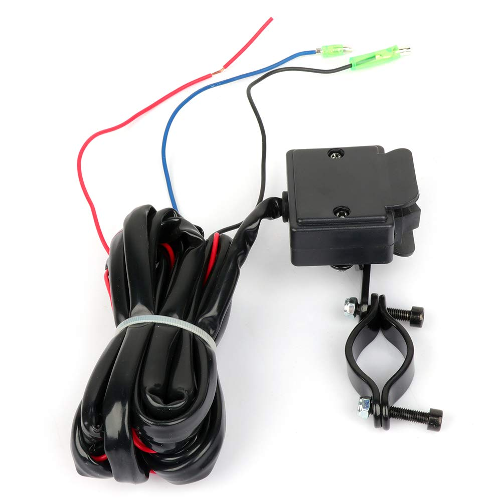 Aintier 12V Solenoid Relay Contactor w//Winch Rocker Thumb Switch Combo for ATV UTV