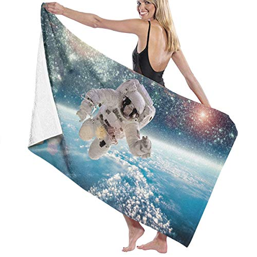Cooby Roman Microfiber Quick Dry Super Absorbent Bath Towel - Astronaut On The Planet Beach Towels for Adults, Swim, Water Sports, SPA and Beach Holidays