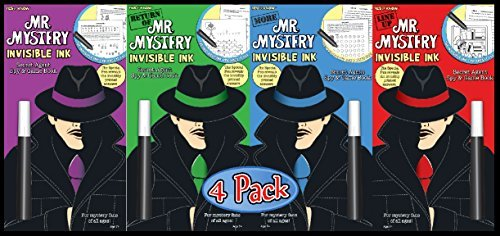 Mr. Mystery Invisible Ink Trivia & Game Books Gift Set Bundle (4 Pack)