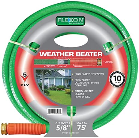 Beautiful Flexon 5/8 Inch By 75 Foot Weather Beater Garden Hose WB5875