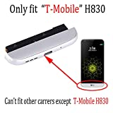 Only fit H830 Bottom cover Complete TYPE-C USB Charger Port Flex Cable Replacement With Microphone Speaker Assembly Bottom cover Chin Charging Module for LG T-Mobile G5 silver