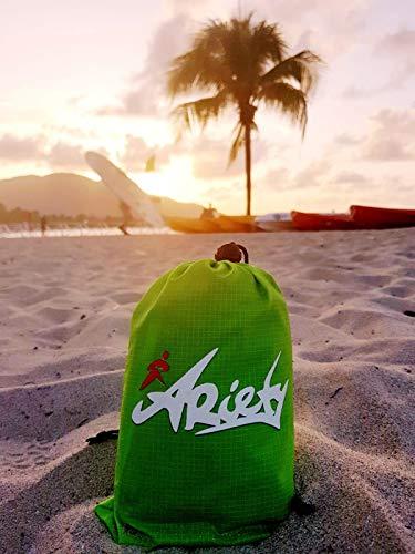 51TC8jE2khL ARiety Picknickdecke wasserdicht Ultraleicht - XXL Outdoor Decke ideal als Stranddecke, Regenponcho oder Sitzunterlage…