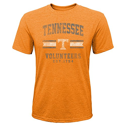 Gen 2 NCAA Tennessee Volunteers Youth Boys Player Pride Tri-Blend Tee, Youth Boys X-Large(18), Black