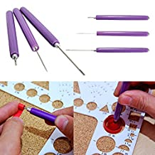 Kicode Paper Quilling Tools 3Pcs Paper Quilling Tool Set Quill Paper Different Size 2 Assorted Needles 1 Slotted Tool Decorative Diy