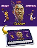 pictures of kobe bryant - Kobe Bryant Lakers Edible Cake Image Topper Personalized Icing Sugar Paper A4 Sheet Edible Frosting Photo Cake 1/4 ~ Best Quality Edible Image for cake