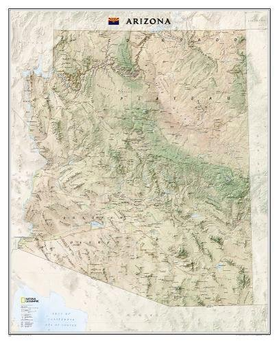 National Geographic: Arizona Wall Map (33 x 40.5 inches) (National Geographic Reference (Arizona Wall Map)
