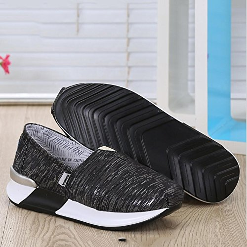 Loafers Shoes Loafers Driving Shoes Fall amp; Shoes Shoes Shoes Slip Size Color Women's 38 XUE Running Shake Sneakers Shake Shoes Fitness Spring Slope B A Heels Wild Canvas Ons Flat Shaking wxnHvqX