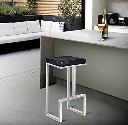 Store Indya,, taburete de barra de hierro moderno mesa 47 cm de ...