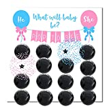 Wasatch Goods - Gender Reveal Party Supplies Game Pack, Baby Shower for Girl or Boy, Decoration Balloons Confetti, Prediction, Pink, Blue and Black