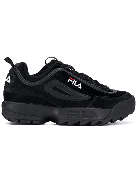 Fila Sneakers Donna 101044012V Camoscio Nero: Amazon.it ...
