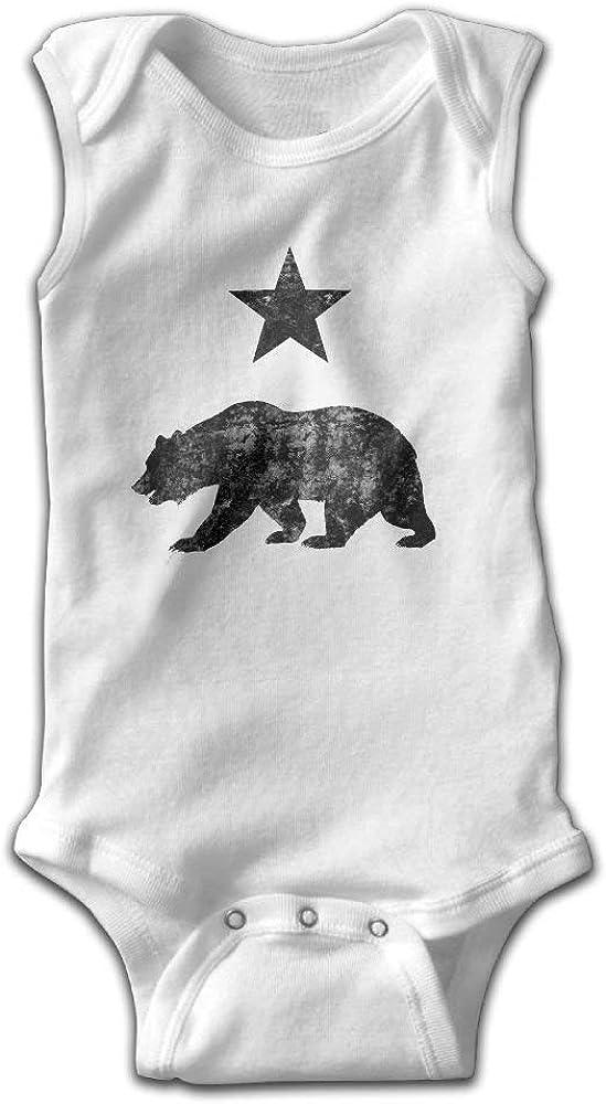 WlQshop Unisex-Baby Kurzarm Body California Republic Distressed Cotton Baby Girls Boys Toddler Sleeveless Unisex BodysuitRompers