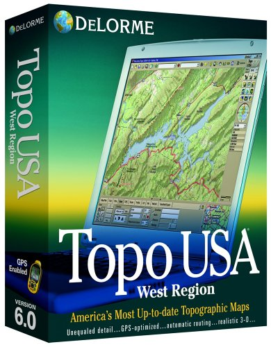 Delorme Topo USA Mapping Software 6 0 West Region