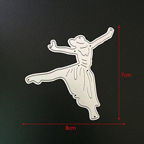 Metal Cutting Dies Stencils For DIY Scrapbooking Photo Album Card Dancing Girl by LIYUDL (Image #5)