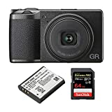 Ricoh GR III Premium Compact Digital Camera with Spare Original DB-110 Battery and 64GB Extreme PRO SD Card (3 Items)