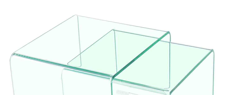 /Ice /Atmosfera Moderna/ Meubletmoi 2/Tavolini tavolino in Vetro/ /Tavolini Bassi in Vetro temprato Stile Elegante/