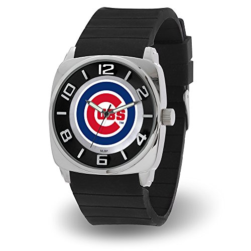 Chicago Cubs Logo Crystal - MLB Men's Forever a Fan Watch (Chicago Cubs)