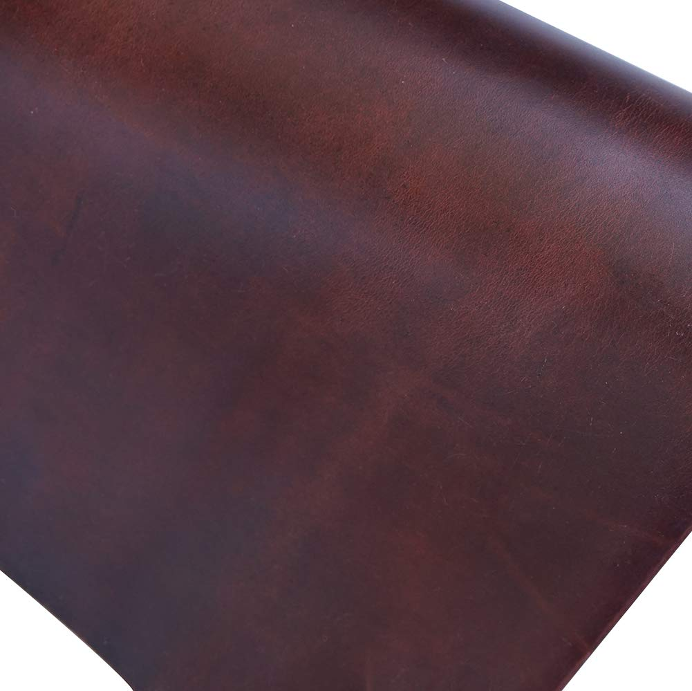 Red Brown Leather Hide 2.0mm Thick Full Grain Cowhide Tooling Leather Straps Arts Crafts Tooling Sewing Hobby Workshop Crafting Hobby Horse Leather Tools QYHQ