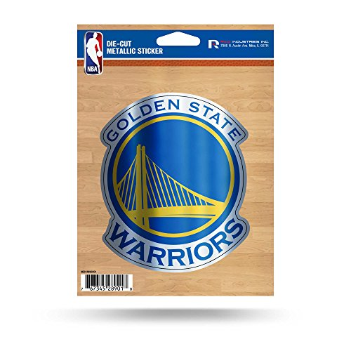 - Rico Industries NBA Golden State Warriors Sports Fan Automotive Decals, Yellow, 5.75 x 7.75-inches