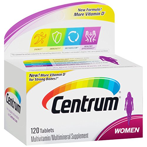 (Centrum Women (120 Count) Multivitamin / Multimineral Supplement Tablet, Vitamin D3)
