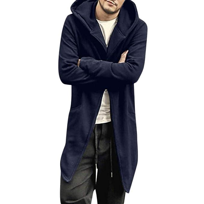 MEIbax Abrigo Hombre Invierno Elegante Color sólido Chaqueta Outdoor Casual Slim de Manga Larga con Capucha: Amazon.es: Ropa y accesorios