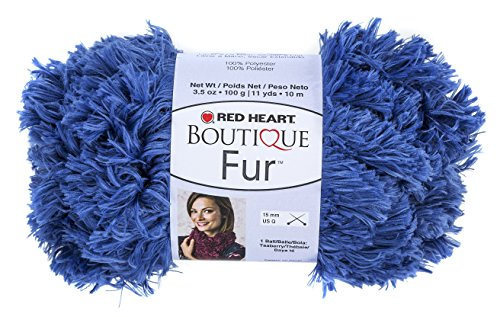 RED HEART Fur Yarn, Cobalt by Red Heart