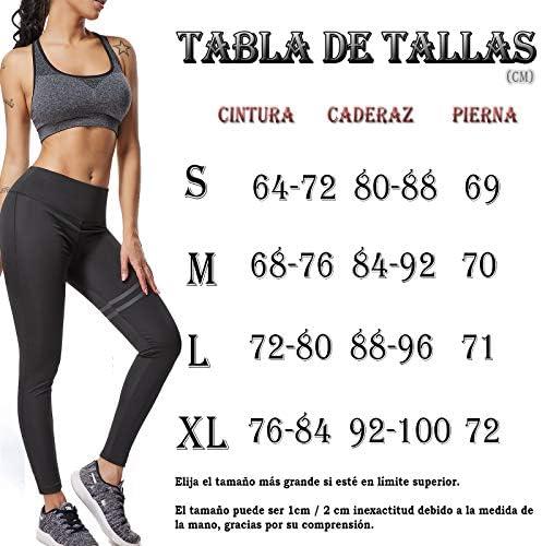 FITTOO Pantalones Deportivos Leggings Mujer Yoga de Alta Cintura Elásticos y Transpirables para Running Fitness Yoga con Gran Elásticos 6