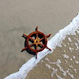 Nautical Decor Sheesham Wood Decorative Ship Wheel