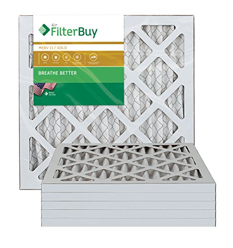 AFB Gold MERV 11 17x17x1 Pleated AC Furnace Air Filter. Pack of 6 Filters. 100% produced in the USA.