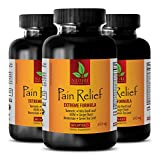 Pain Pills for Adults - Pain Relief 610MG - Extreme Formula - antioxidant Boost - 3 Bottles (180 Capsules)
