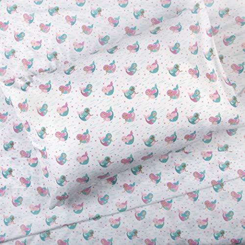 - Kids Rule 4 Piece Full Sheet Set, Mermaid