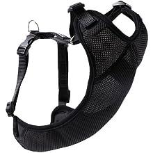 Canine Friendly Vented Vest Harness Air Mesh- XXSmall- Black