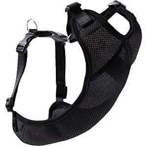 Canine Friendly Vented Vest Harness, Large, Black