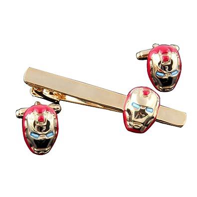 covink Iron Man rojo y oro Gemelos Conjunto De Corbata Gemelos de ...