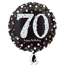 Amscan 3374101 - Globos de papel de aluminio para 70 cumpleaños , color/modelo surtido