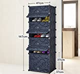 ALUS- Multi - Store Shelves Dust-proof Shoe Cabinet,Combination Of Large-capacity Multifunction Shoe Storage Rack,Household Resin Plastic Shoe Cabinet ( Size : 4737147cm )