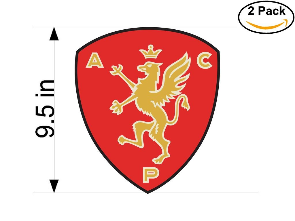 AC Peruggia Italy Soccer Football Club FC 2 Stickers Car Bumper Window Sticker Decal Huge 9.5 inches