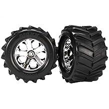 Traxxas 6771 Maxx Tires, 2.8 All-Star Chrome Wheels :ST4x4