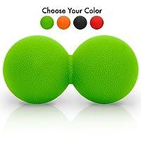 Double Lacrosse Style Massage Ball ( Peanut ), Green - with Bonus eBook