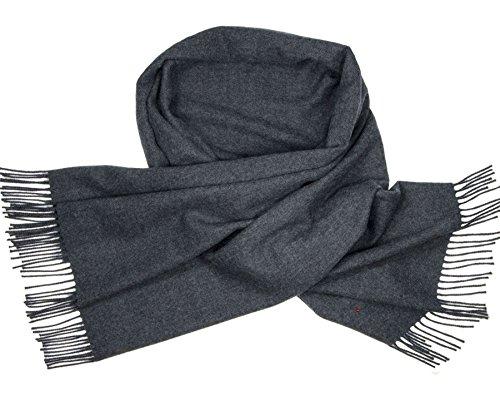 - Ladies Shawl Lambswool Charcoal Grey 70 x 180 cm