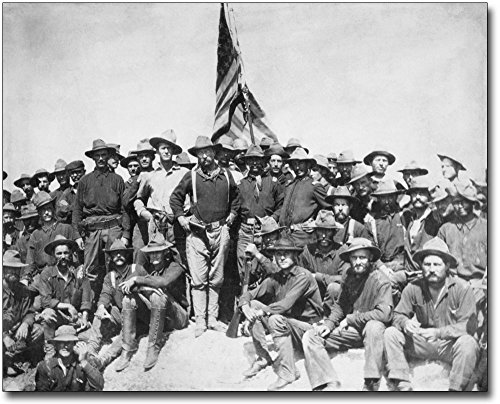 Teddy Roosevelt and the Rough Riders 1898 30x40 Silver Halide Photo Print 1898 Photo Print