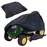 DAVEVY Tractor Mower Cover Riding Mower Protect Case 210D Oxford Cloth Waterproof UV Resistant Garden Lawn Outdoor (M,Black)