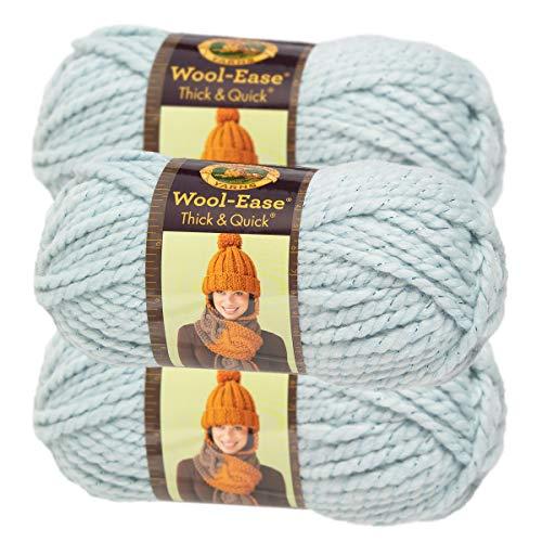 Lion Brand Yarn (3 Pack) Wool Ease Super Chunky Yarn for Knitting Crocheting Soft Yarn Bulky ()