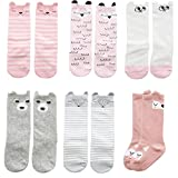Sept.Filles Infant toddler Baby & Kids Anti-Slip Knee High Long Socks (S- 0-12 Months, Long Socks A)