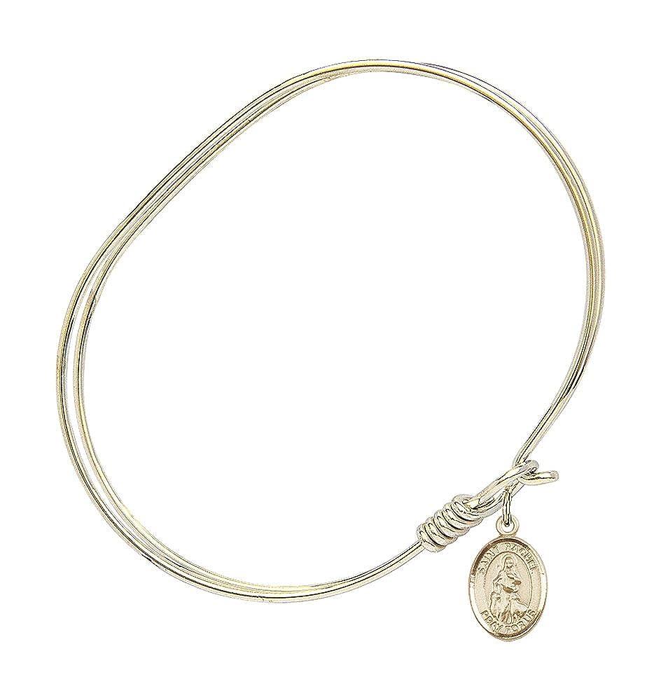 Rachel Charm On A 7 Inch Oval Eye Hook Bangle Bracelet St