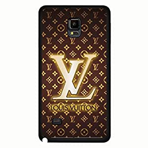 Luxury Brands LV Phone Case For Samsung Galaxy Note 4 Personal LV Brown Back Design For Ladys JM-004