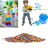 Crystal Soft Bullets,10000 PCS Crystal Water Beads Crystal Soft Bullets Water Bullet Balls for Wedding and Party Decoration,Water Gun Pistol Toy