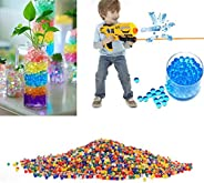 Crystal Soft Bullets,10000 PCS Crystal Water Beads Crystal Soft Bullets Water Bullet Balls for Wedding and Par